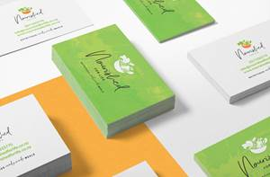 Business Card Design - Nourished For Life